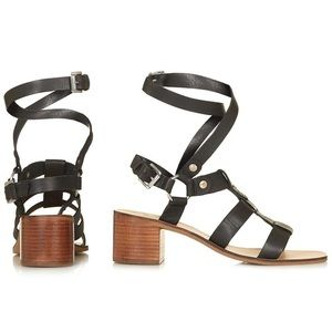 TopShop Valley Mid Sandals Wrap Around Ankle